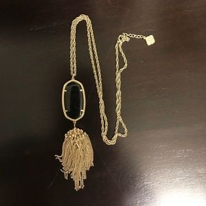 Kendra Scott black and gold necklace